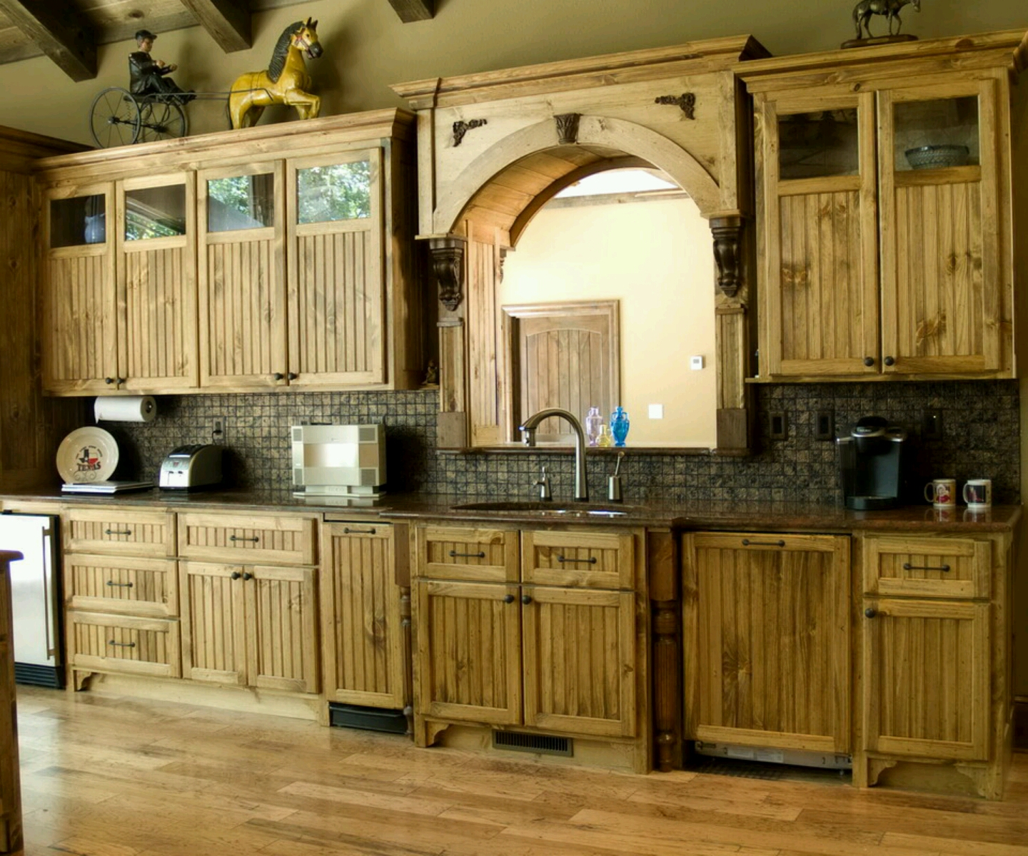 Modern wooden kitchen cabinets designs furniture gallery - Cupboards made from pallets ...