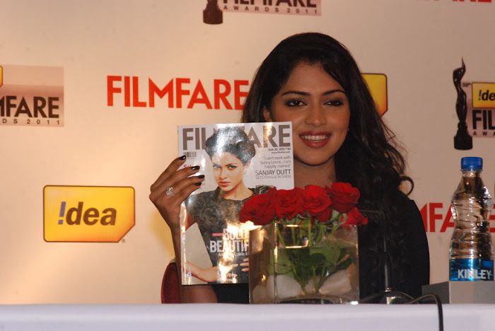 amala paul at 59th idea filmfare awards press meet hot images