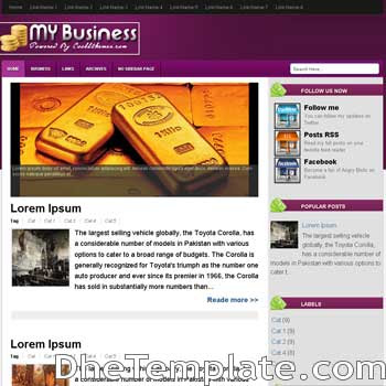 My Business blogger template. blogger template 3 column footer. template blogspot 3 column footer