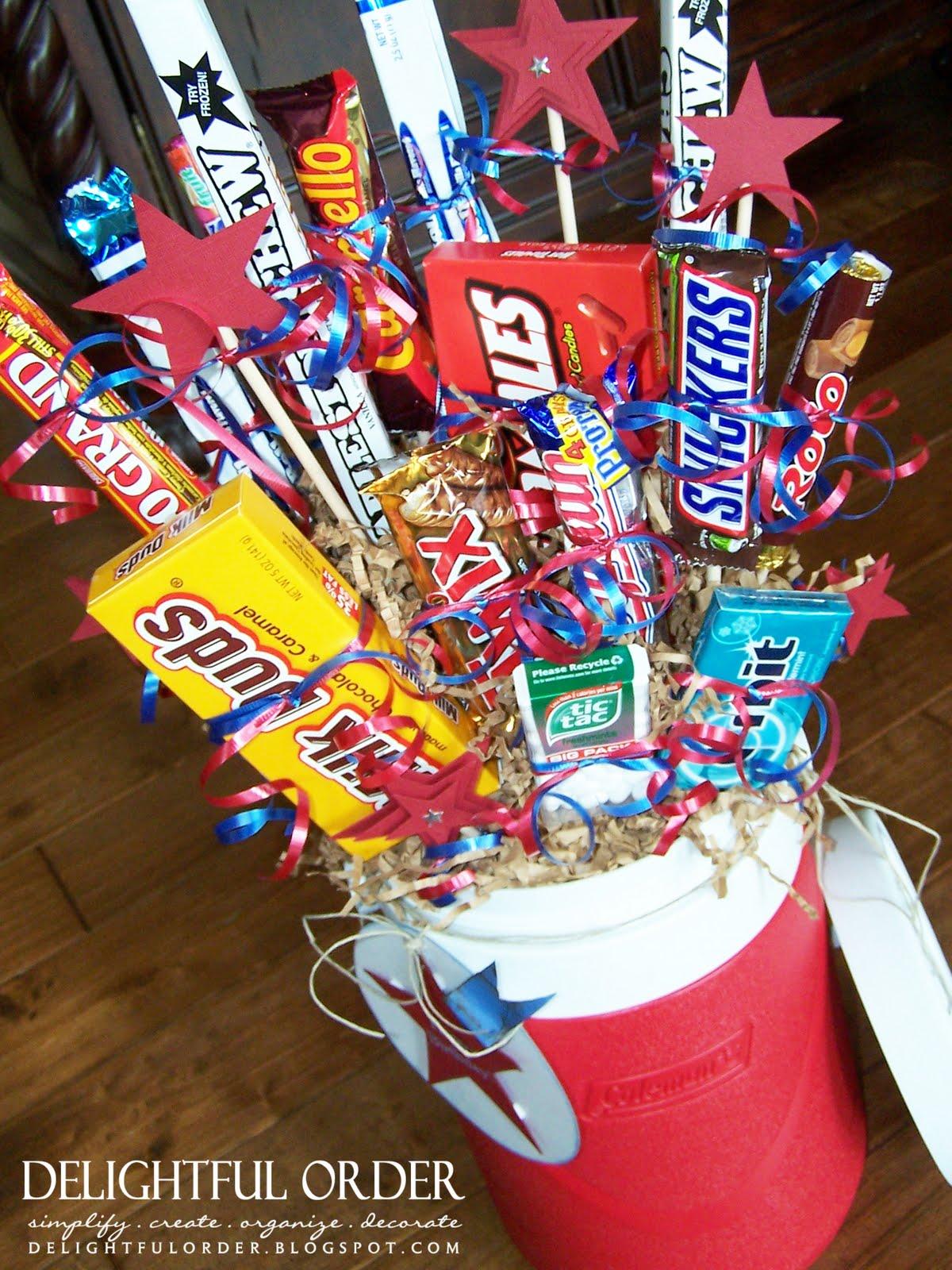 Delightful Order Candy Arrangement For Men