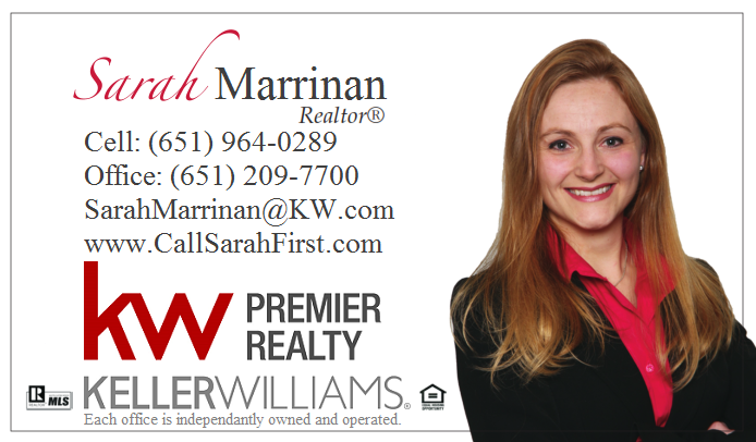 Sarah Marrinan, Keller Williams, SarahMarrinan@kw.com, 651-964-0289