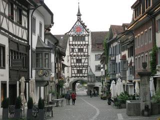 View toward the main gate, Stein am Rhein, Switzerland.