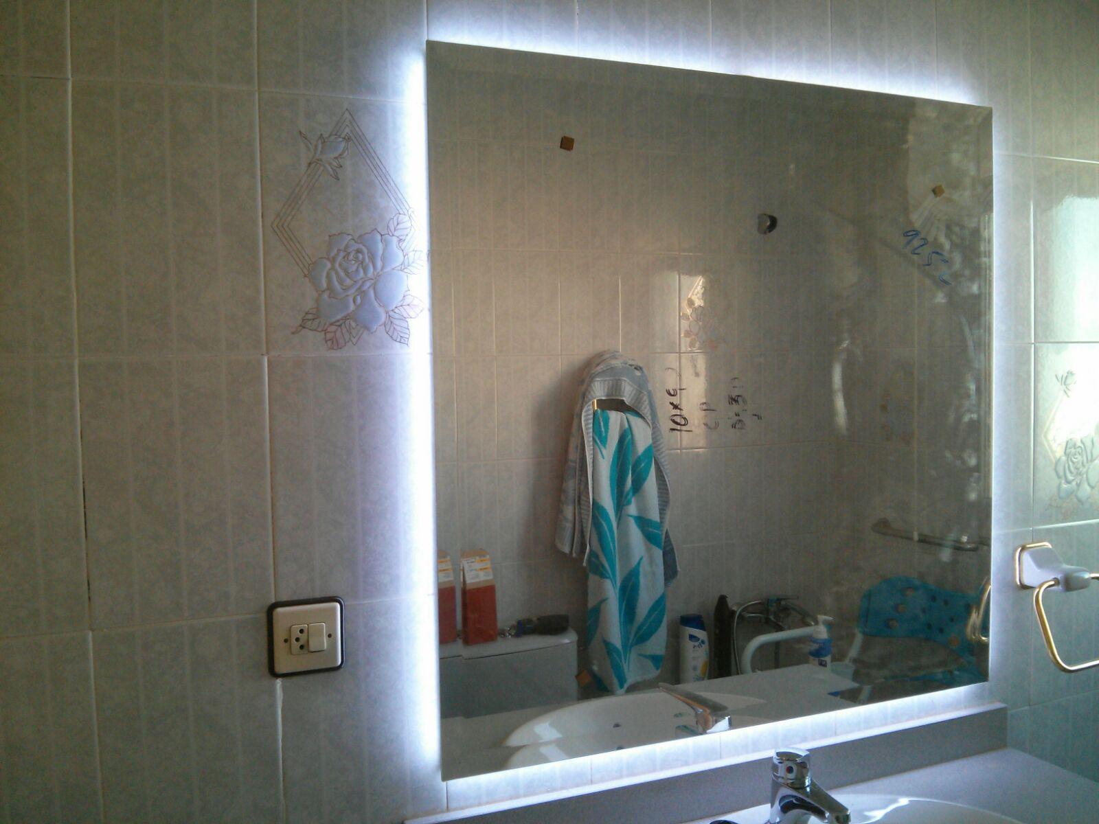 Carpinteria los molinos mueble de ba o lacado blanco for Espejos de bano con led