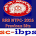RRB NTPC -2016 :: Previous Papers Bits Set- 2