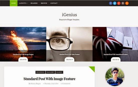 IGenius Responsive Blogger Template
