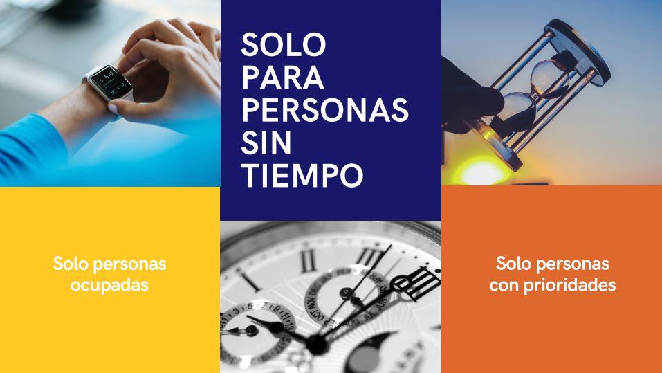 """Campaña """"Solo para personas sin tiempo"""""""