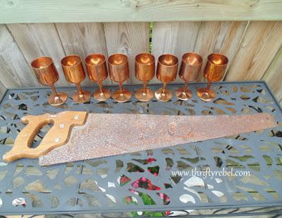 Vintage Copper Goblets