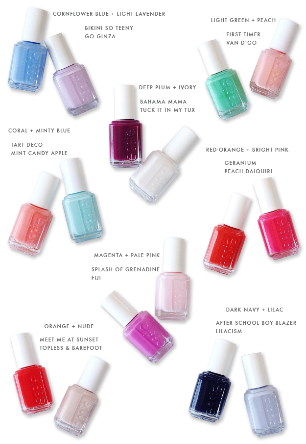spring & summer nail polish pairings