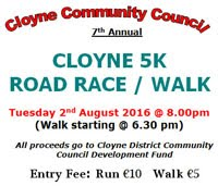 5k race in East Cork...Tues 2nd Aug