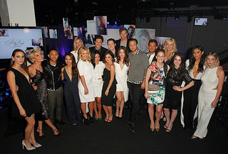 Emma Ishta and Kyle Harris with PLL cast at ABC Family Upfront