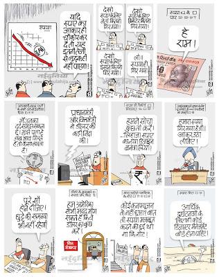 rupee cartoon, economy, manmohan singh cartoon, congress cartoon, indian political cartoon