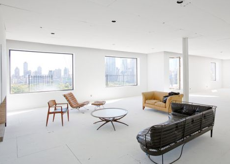interior of calvin kliens old duplex apartment in new york city