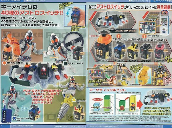 Kamen Rider Fourze Switches Weapons