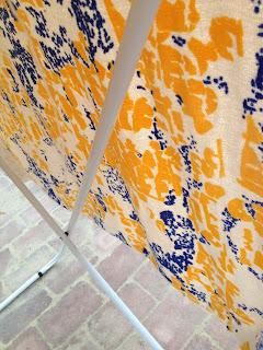 retro frotte´ blå gul