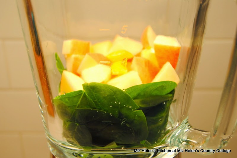 Pickled Tabasco Juice with Spinach and Apple, Blender  at Miz Helen's Country Cottage