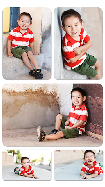 Collection of portraits of child on the streets of downtown Tucson
