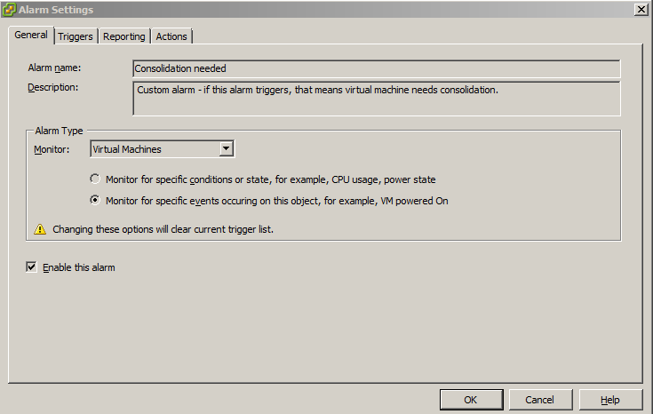 vmware machine disks consolidation is needed