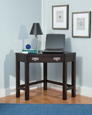 Home Styles City Chic Corner Lap Top Desk Espresso Finish