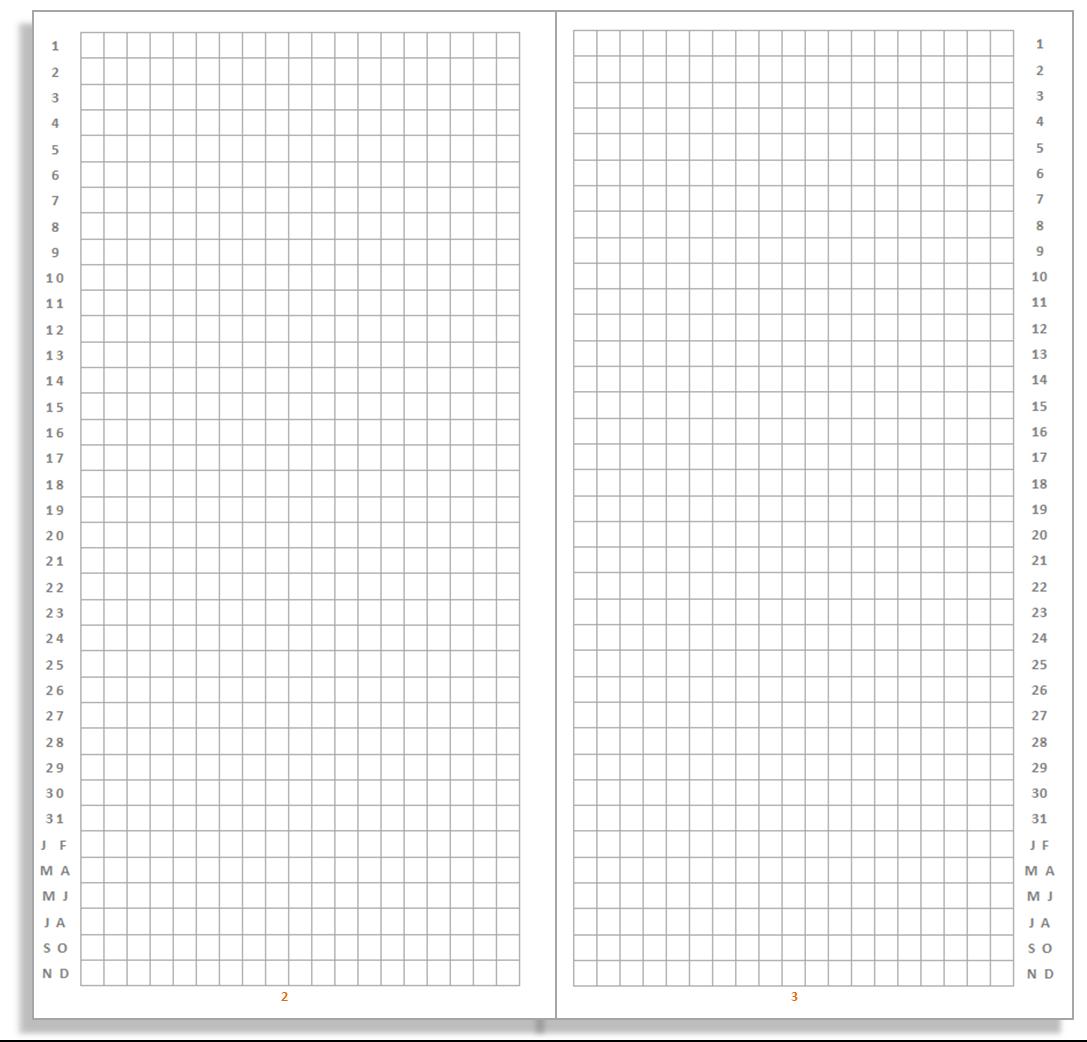 Free Bullet Journal Template Calendar Template 2016