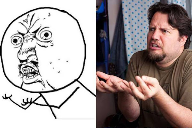 rage face, man's attempt at rage face, funny, funny pictures