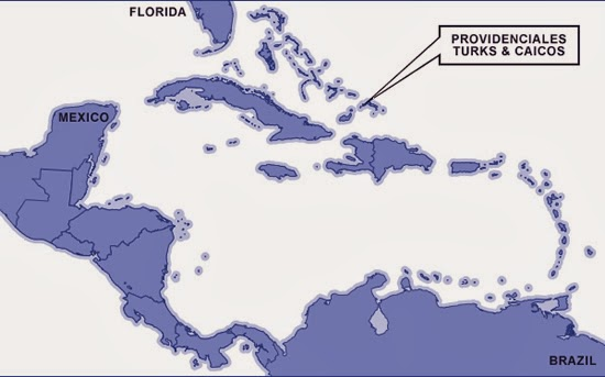 Providenciales, Turks and Caicos on the map