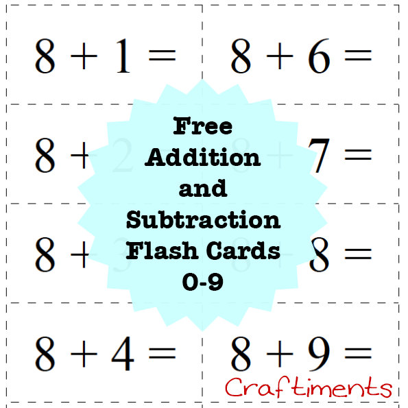 Terrible image with printable addition flash cards