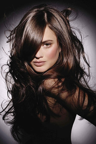 adriana lima black hair color