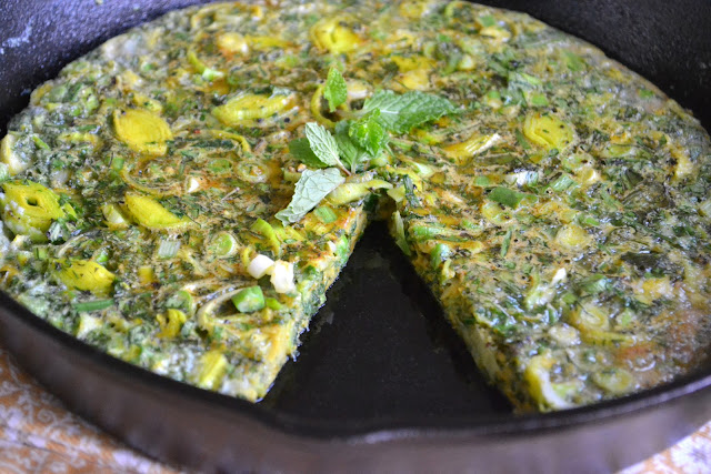 Persian Mixed Herb Frittata (Kuku Sabzi) | The View from Great Island