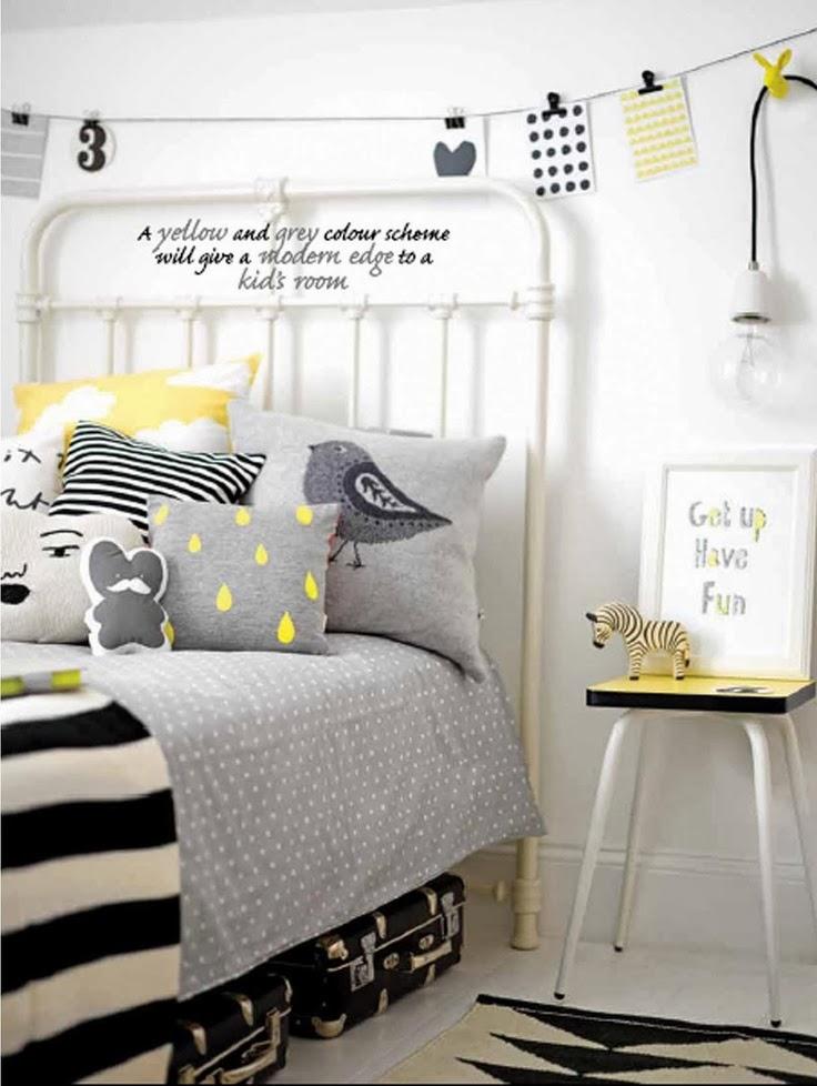 Vintage trendy inspirez vous et cr ez chambre enfant yellow - Chambre jaune blanc ...