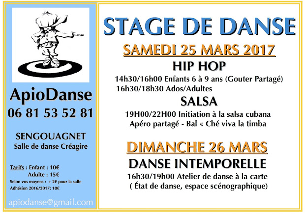 stage danse Yoga avril 2016
