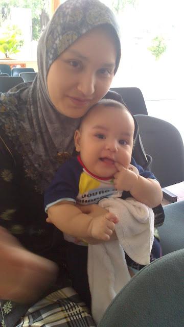 Ruzain Aliff anakku sayang dah 5 bulan... yeah!