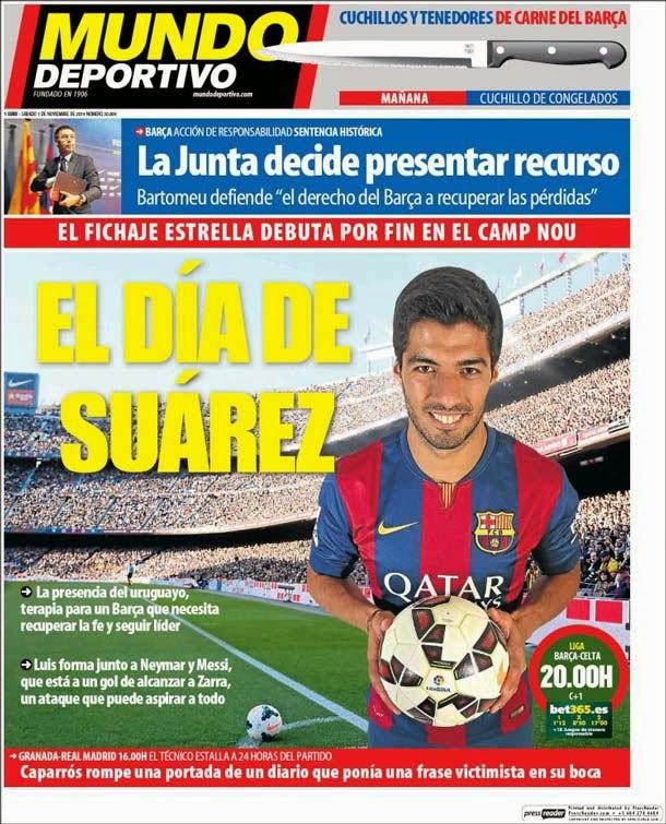 Portada Mundo Deportivo (1/11/2014)