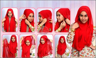 cara memasang jilbab segi empat
