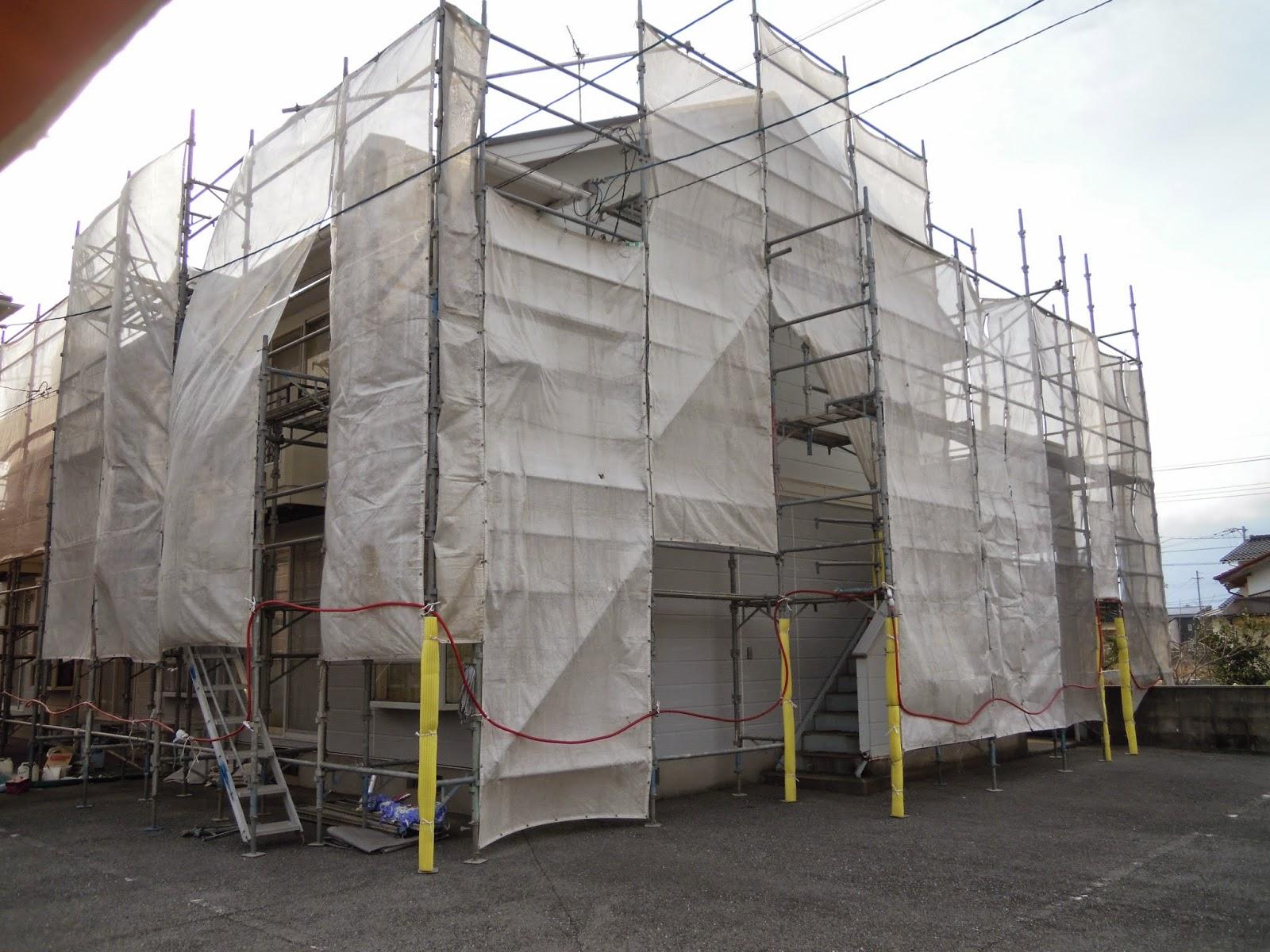 外壁 塗装 足場
