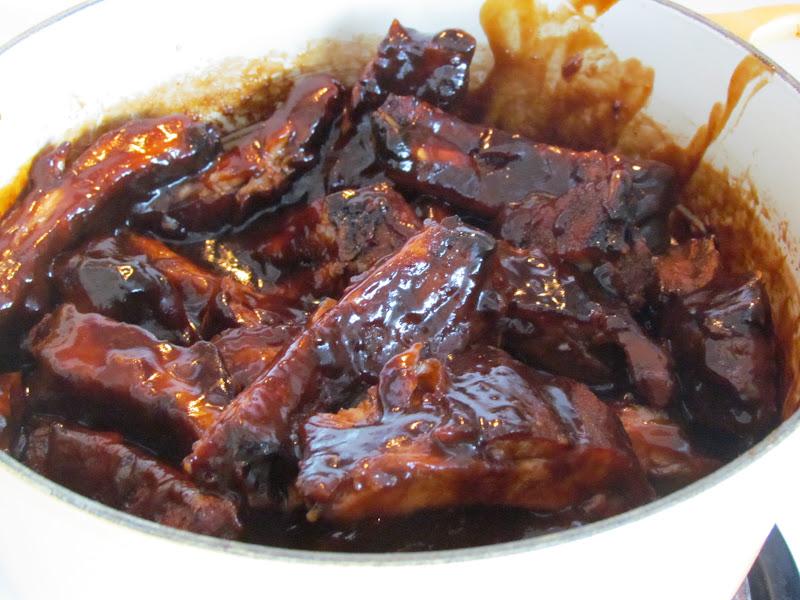 second glance.: Bold, spicy-sweet glazed pork back ribs