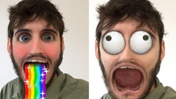 كيف  استخدام تأثيرات الوجوه داخل سناب شات