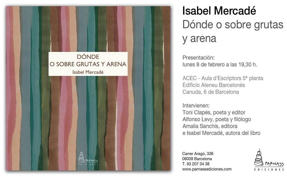 Lunes 8 de febrero, a las 19:30 h, Barcelona (España)