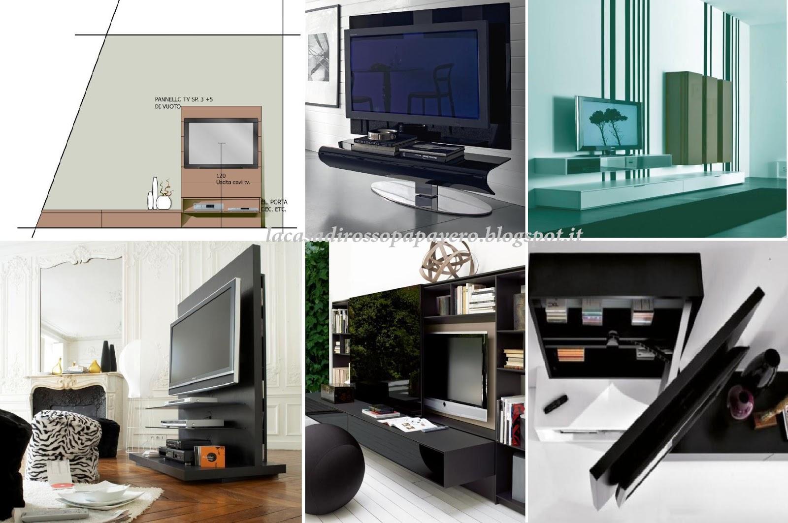 Inserire la tv in soggiorno blog arredamento - Altezza quadri sopra divano ...