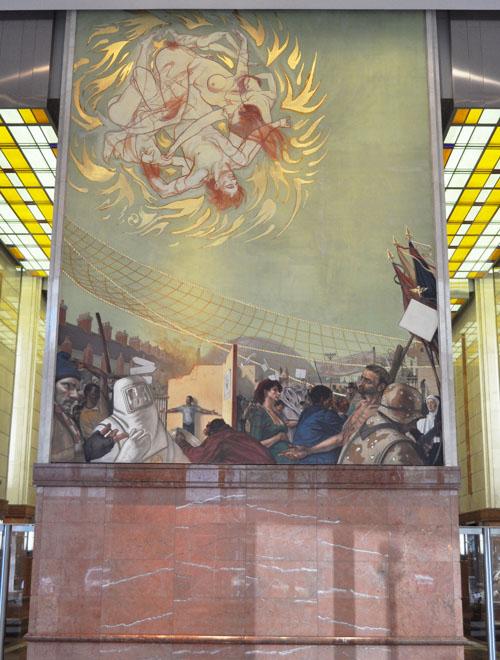 bank of america murals - room wall murals