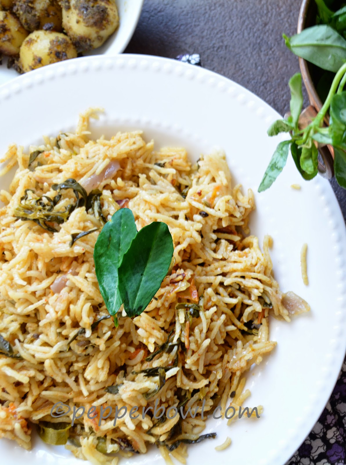 Fenugreek Leaves Rice Recipe