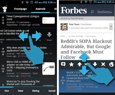 redditnews - apps designed for ICS