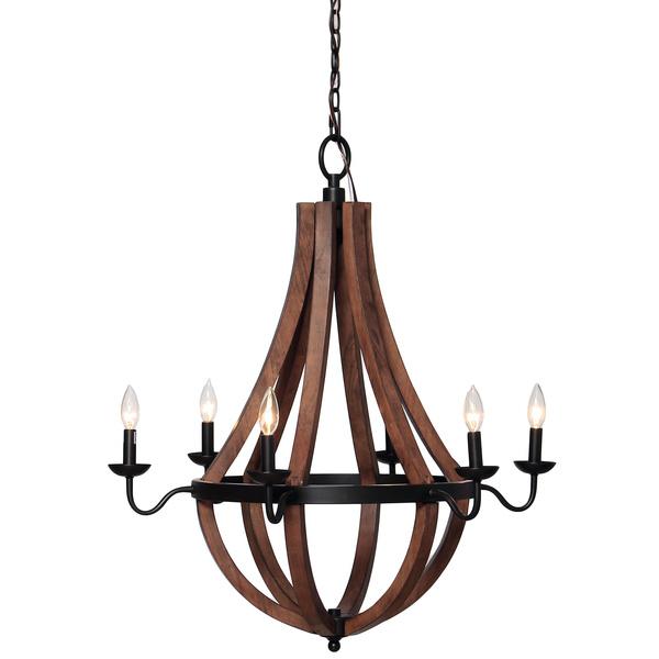 Overstock Vineyard Oil-rubbed Bronze 6-light Chandelier