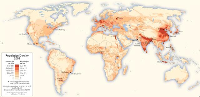 World Population Map 2003