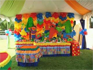 Elmo decoration for children parties