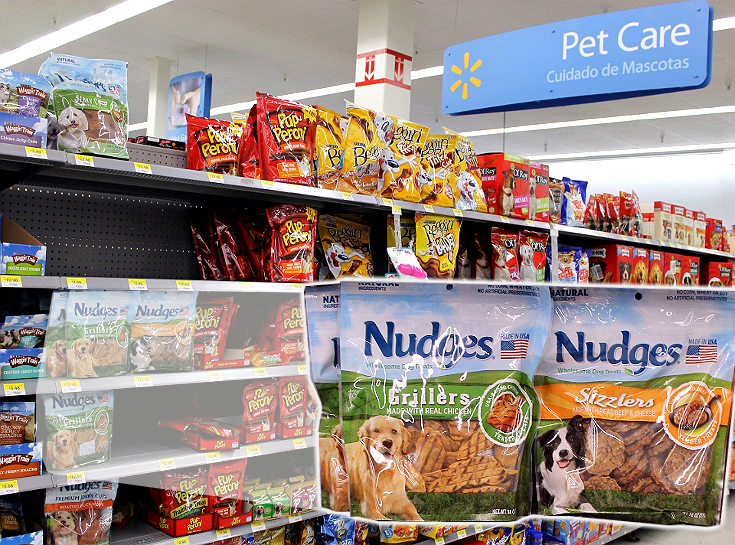 Your dog nudges you to get out, live healthier, and live happier, #NudgeThemBack with Nudges natural, USA made, Grillers and Sizzlers dog treats from Walmart. #ad