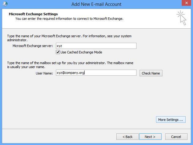 enter server name , user name