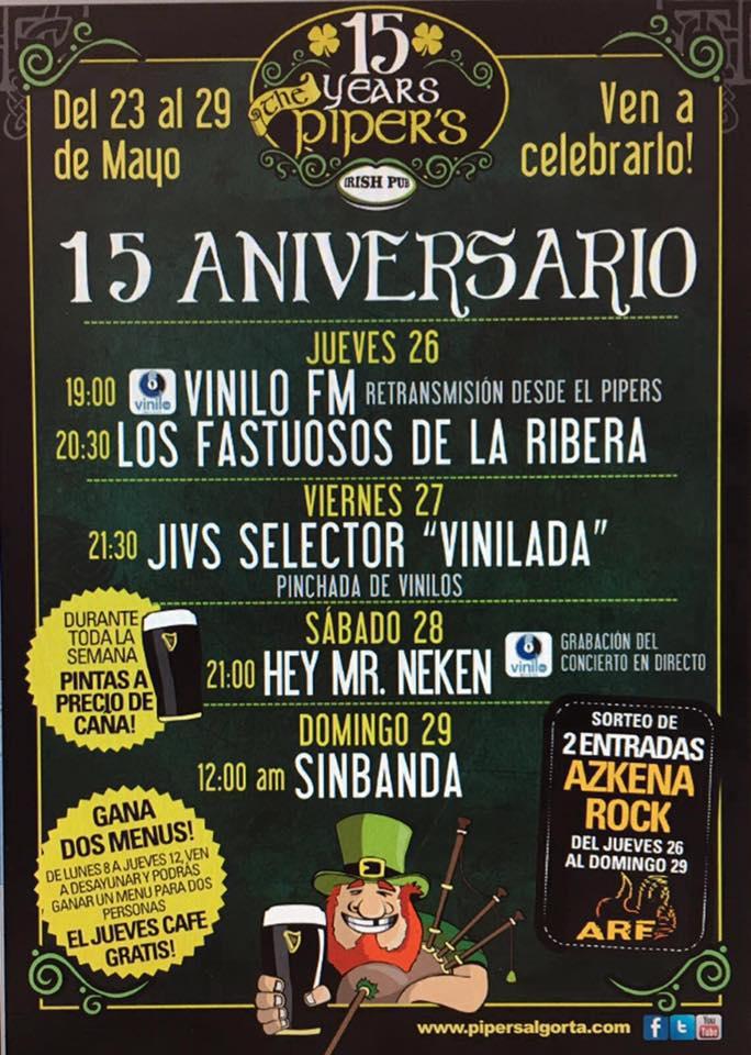 RECOMENDACIÓN!!! - 26-29/05/16<br> Pipers - Algorta