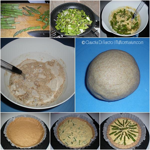 Torta rustica con farina di ceci e asparagi