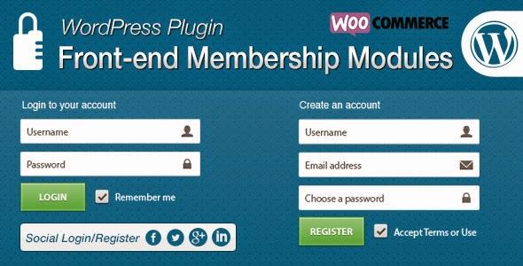 Front-end Membership Modules - WordPress Plugin