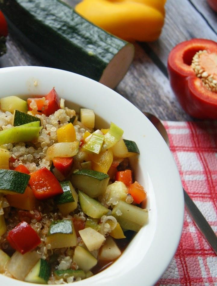 Warzywa na ostro z quinoa